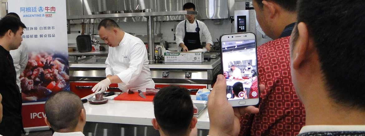 CHINA: CLASE MAGISTRAL CON CARNE<br>  ARGENTINA PARA CHEFS EN SHANGHAI