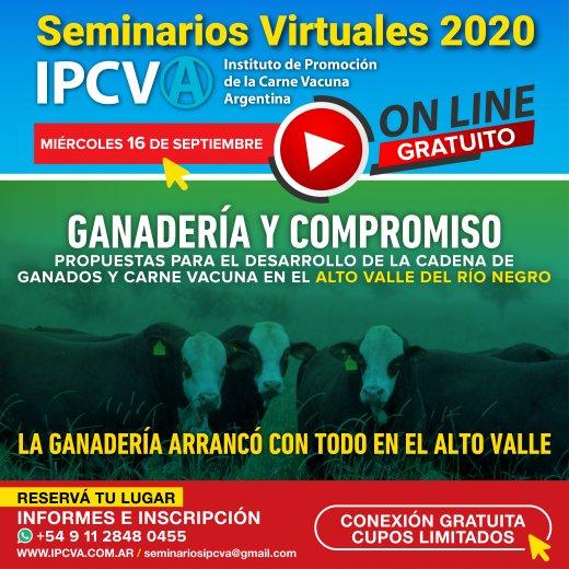EN DIRECTO - Seminario ganadero virtual del IPCVA en Río Negro