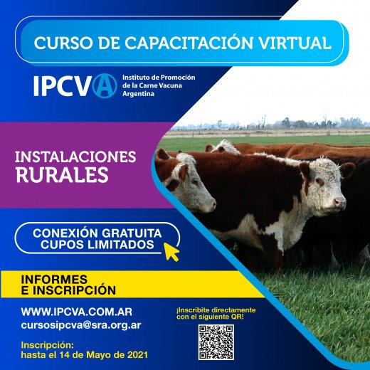 Más capacitación virtual: Instalaciones Rurales