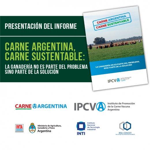 """Se presentó el informe """"Carne Argentina, Carne Sustentable�..."""